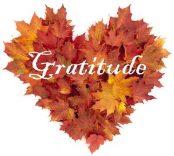 gratitude leaf heart